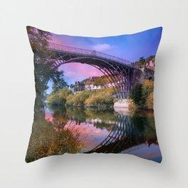 Iron Bridge 1779 Throw Pillow
