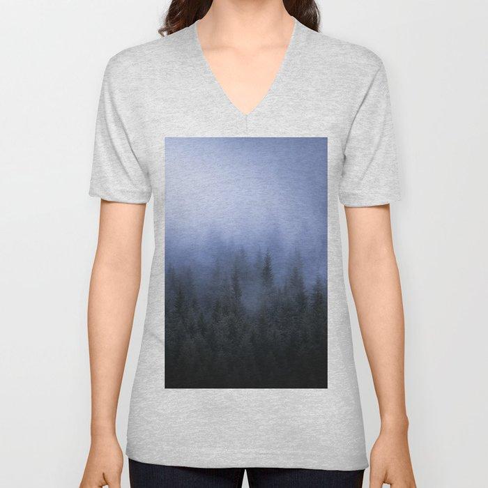 Foggy Forest Unisex V-Neck