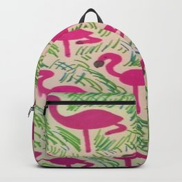 Tropical Flamingos Backpack