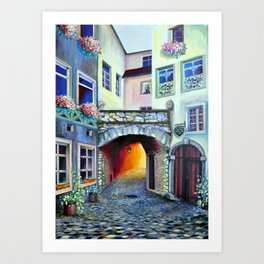 Mysteries of Luxembourg Art Print