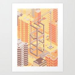 SlumberBean Construction Art Print