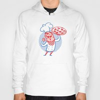 chef Hoodies featuring Pizza Chef by Studio Drawgood