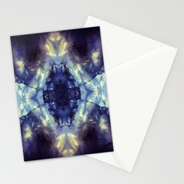 Abstract Kaleidoscope Mineral Crystal Texture Stationery Cards