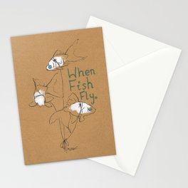 When Fish Fly Stationery Cards