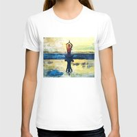 yoga T-shirts featuring yoga by Chantale Roger