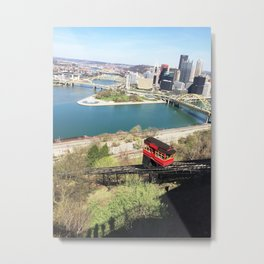 Pittsburgh Incline & Cityscape Metal Print