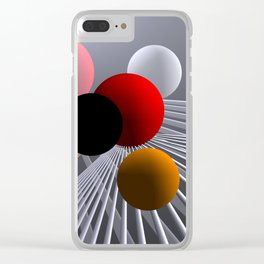converging lines again -2- Clear iPhone Case