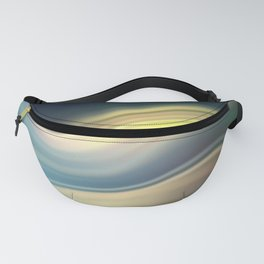 Moonlight Sonata. Abstract modern wavy flowing silk, satin, smooth Fanny Pack