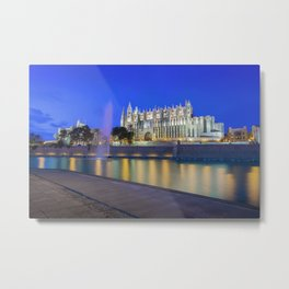 Palma Cathedral,Mallorca,Spain Metal Print