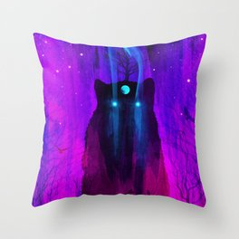 God of Wolves: Neon Flux Throw Pillow