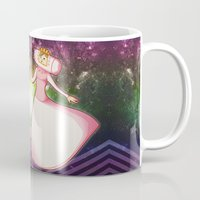katamari Mugs featuring King & Queen of All Cosmos by cakeisforrobots