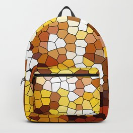 The glowing sun stained glass Backpack