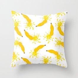 Splash of banana juice Throw Pillow