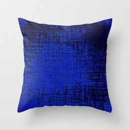 Woven Inkwell Blue and Royal Blue Abstraction Throw Pillow