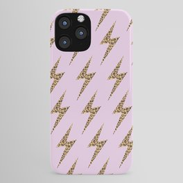 pink leopard lightning iPhone Case