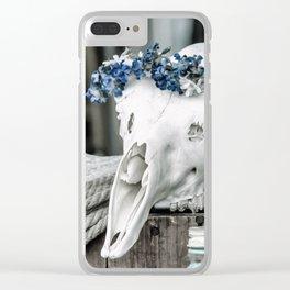 Skullflower Clear iPhone Case