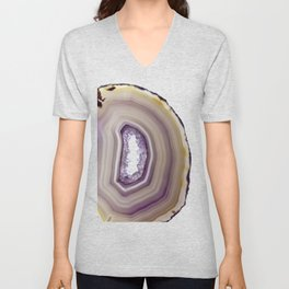Iris and butterscotch Agate Unisex V-Neck