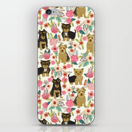 Yorkshire Terrier cute florals must have gifts for dog lover yorkie owners delight secret gifts art iPhone Skin