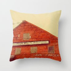 Lawn and Garden Shop, Norway, ME Throw Pillow