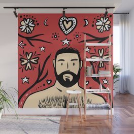 Beard Boy: Feliz Navidad Wall Mural