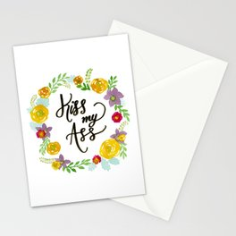 Kiss My Ass Stationery Cards