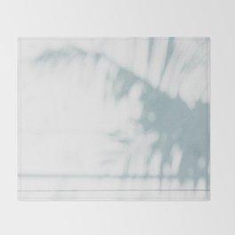 palm shadow Throw Blanket