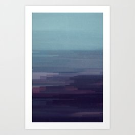 Glitched v.9 Art Print