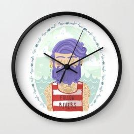 Follow Rivers Wall Clock