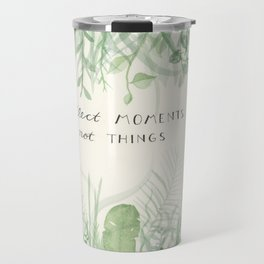 Collect Moments foliage watercolor Travel Mug