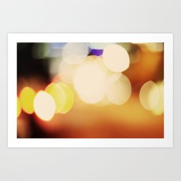 City Blur Art Print