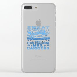 Mail Carrier Woman Clear iPhone Case
