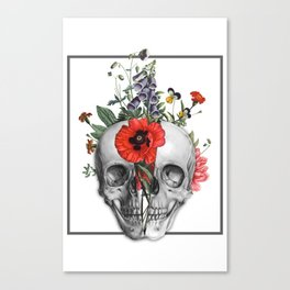 Flourish Skull Canvas Print