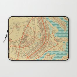 Brasilia Map Retro Laptop Sleeve