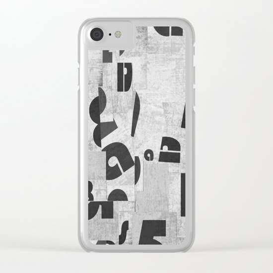 Abstract pattern 51 Clear iPhone Case
