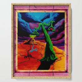 Trippy Psychedelic Surrealism by Vncent Monaco - The Balance Serving Tray