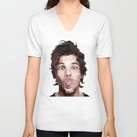 louis tomlinson V-neck T-shirts featuring Louis Tomlinson - One Direction by jrrrdan