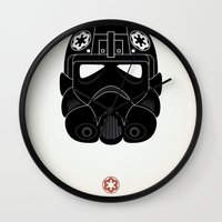 pilot Wall Clocks featuring Imperial Pilot by  David Somers