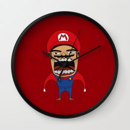 Screaming Mario Wall Clock