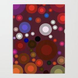 Retro Multi Color Bubbles Poster