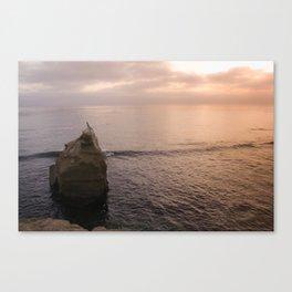 Mermaid at sunset Canvas Print