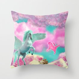 9 NightMares and the Attack of the Pussy Throw Pillow