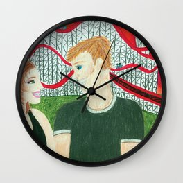 Rollercoaster of Love Wall Clock