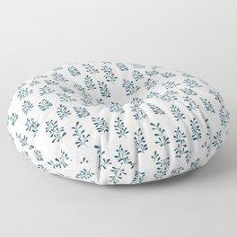 Dainty Florals in Indigo Floor Pillow