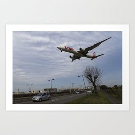Tam Boeing 777 Heathrow Airport Art Print