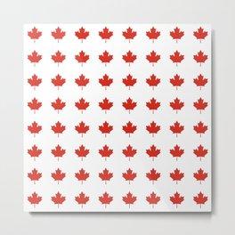 flag of canada 2,america,canadian,ottawa,toronto,Maple Leaf,l'Unifolié,montreal,erable,snow Metal Print