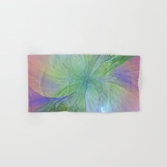 Mystic Warmth Abstract Fractal Hand & Bath Towel