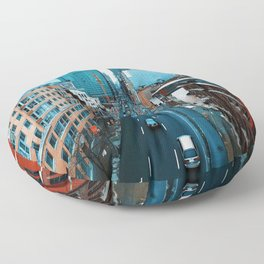 The City (Color) Floor Pillow