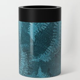 Ferns (light) abstract design Can Cooler