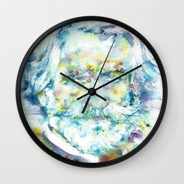 GIUSEPPE VERDI - watercolor portrait Wall Clock
