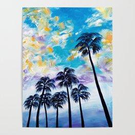 Oceanside Palm Trees Poster